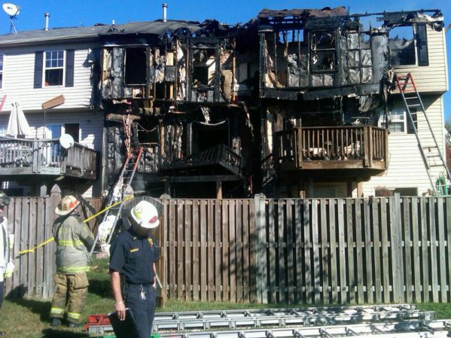 Fire Damages 3 Md. Townhouses