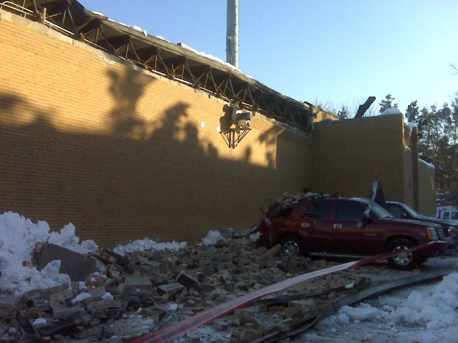 Firehouse Roof Collapses In Falls Church