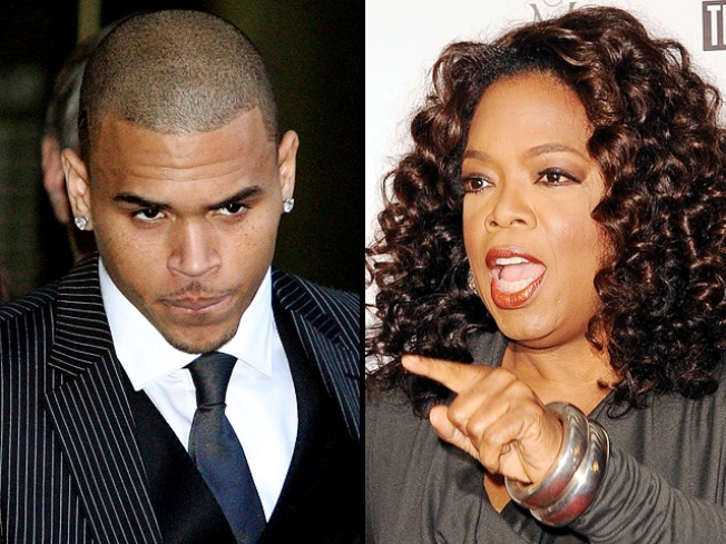 Oprah Fires Back at Chris Brown