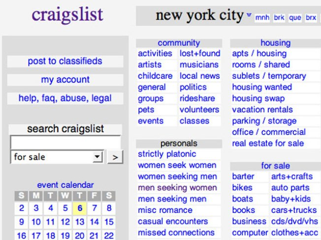 Post Ad Asks Craigslist Founder to End Adult Services