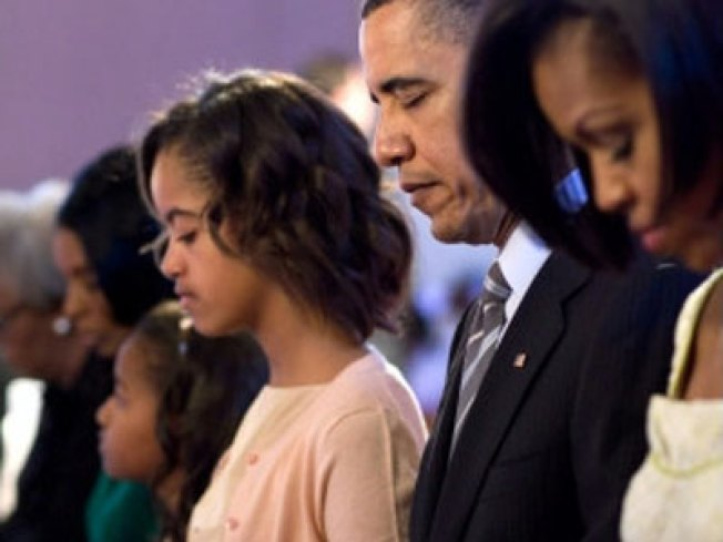 Obama Family Attends Easter Service at Southeast Church