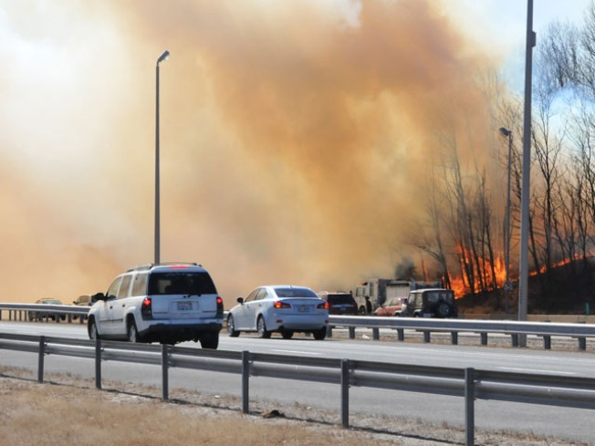 Wind-Fueled Fires Scorch Region