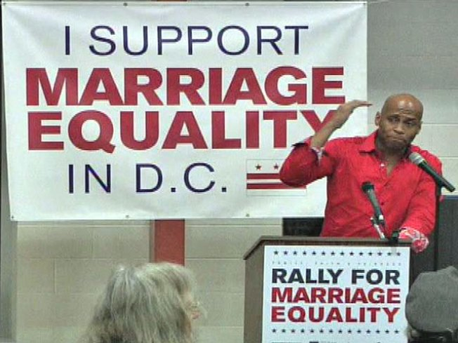 Rally Held Before D.C's Gay Marriage Vote