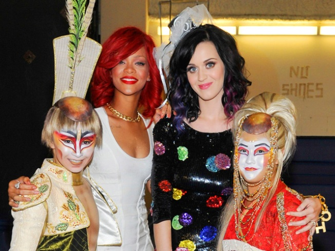Katy Perry Celebrates Last Days Of Single Life With Rihanna