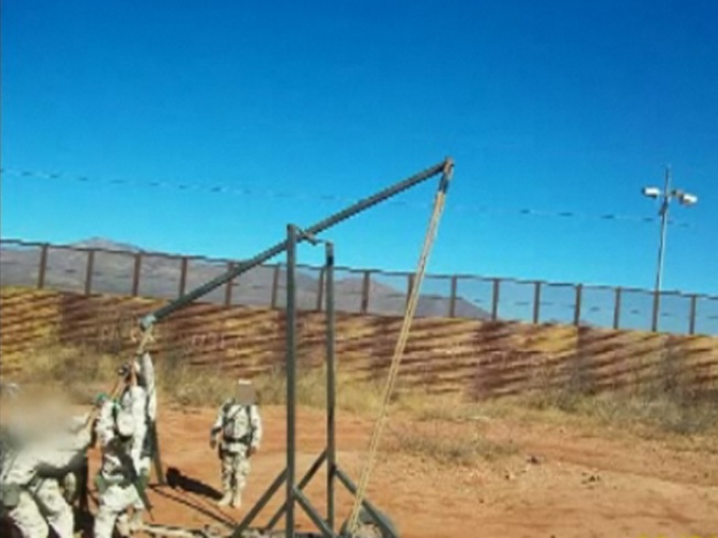 Drug Catapult Discovered on Mexico Border
