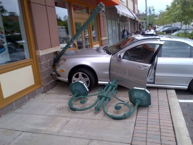 Mercedes Crashes Into Retail Store