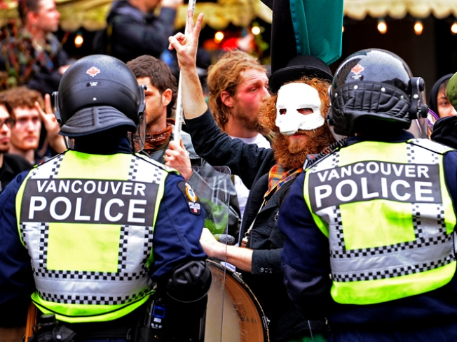 Olympic Protesters Smash Windows in Downtown Vancouver