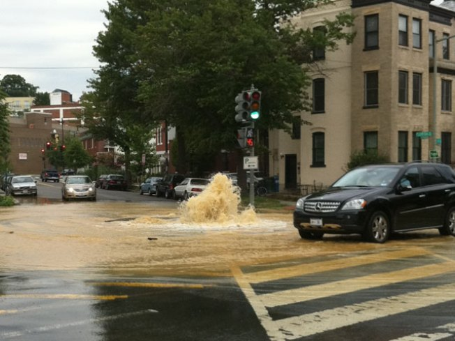 U Street Water Main Left Businesses High and Dry