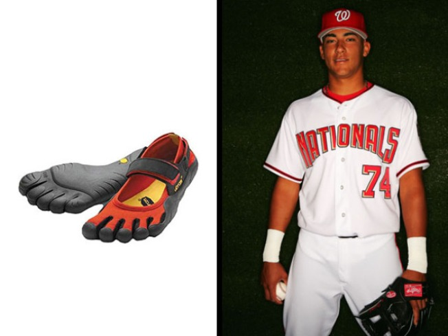 Nats Player Proud of His Frog Feet