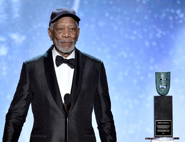 Actor Morgan Freeman Receives Screen Actors Guild Life Achievement Award
