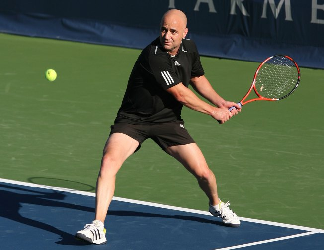 Andre Agassi Headed to Tysons Today