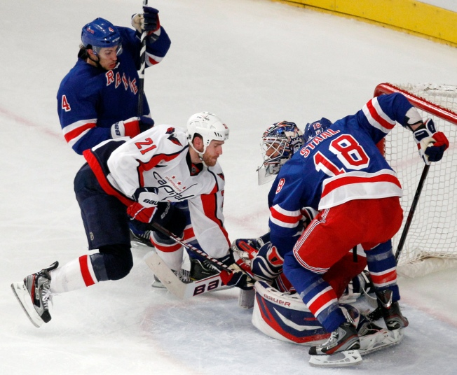 Rangers Fall to Capitals in Game 2 to Tie Series