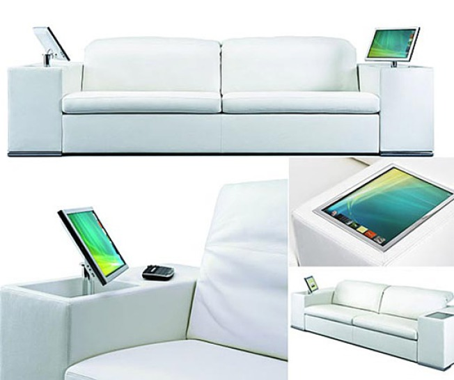 Couch Potatoes, Relax: Sofa Has Built-In PC