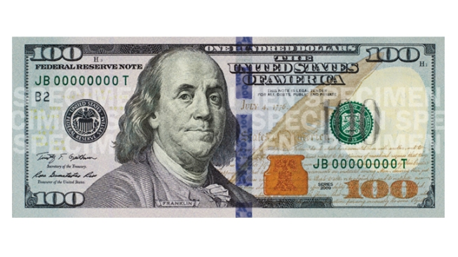 Fed Says Redesigned $100 Bill Ready by October