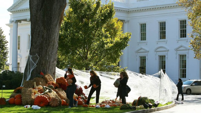 Local Students Trick-or-Treat at the White House