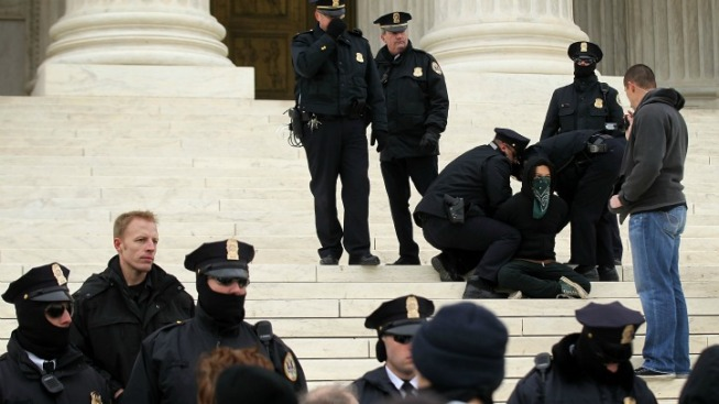 Protesters Arrested Outside Supreme Court