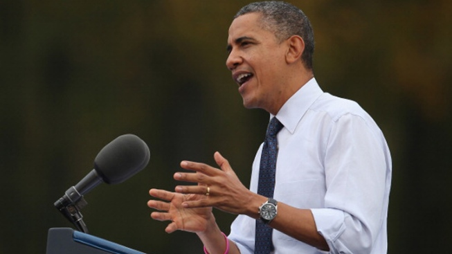 "President Suggests Opponent Has ""Romnesia"" for Shifting Positions"