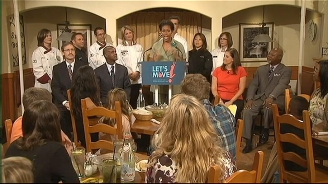 Michelle obama heads to olive garden nbc4 washington for Who owns olive garden