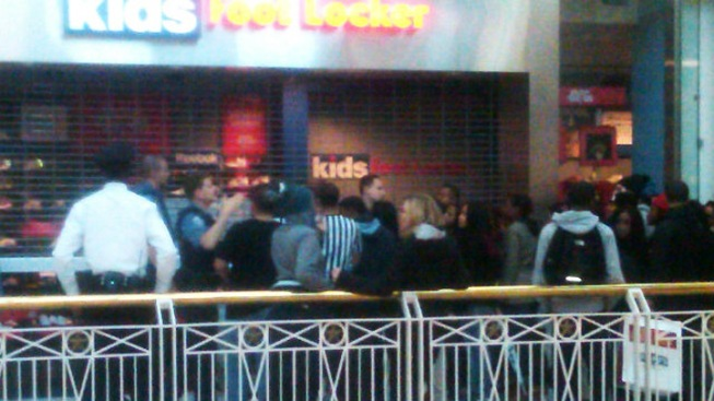 Chaos at Mall on Release Date of Air Jordan Sneakers