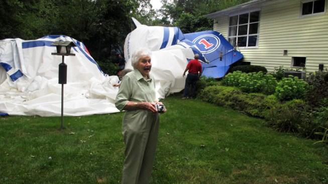 Breakaway Blimp Lands in 94-Year-Old Woman's Yard