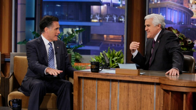 Romney Plays GOP Word Association with Jay Leno