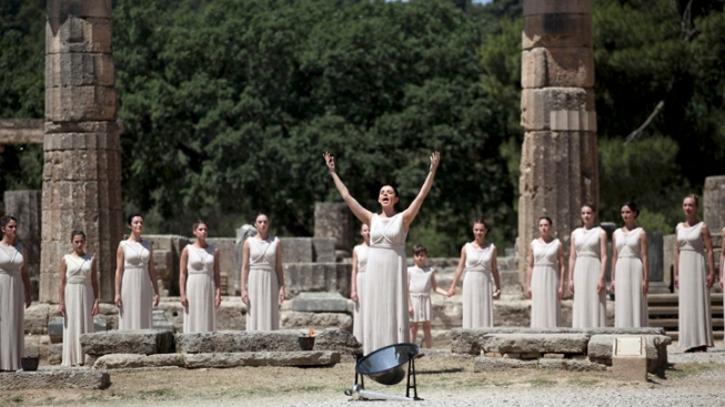 Olympic Flame Lit in Ancient Olympia