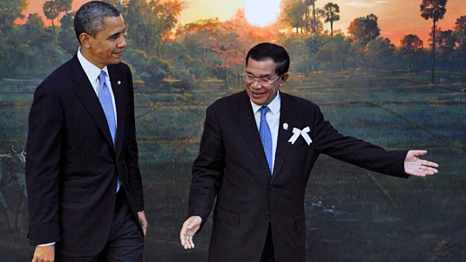 "Obama Meets with Cambodia's ""Strongman"" in Historic Visit"