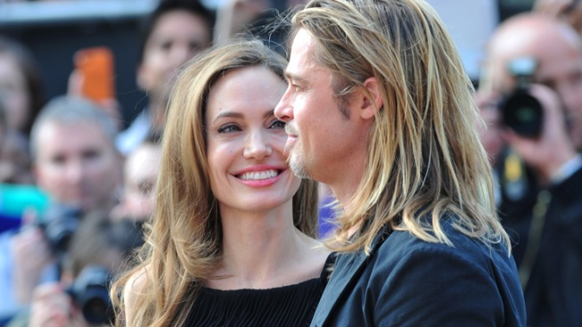"Jolie Joins Pitt at ""World War Z"" London Premiere"