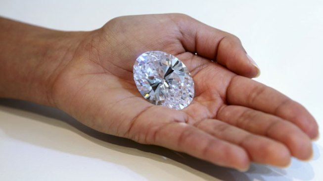 Egg-Sized 118-Carat Diamond Up for Auction Shown in NYC