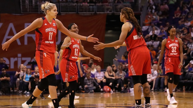 Mystics Ease Past Sparks 96-64 to Reach Semifinals