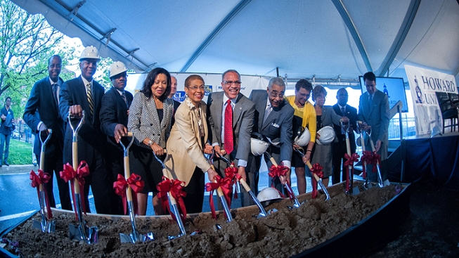 Howard University Hosts Groundbreaking Ceremony for Three New Buildings