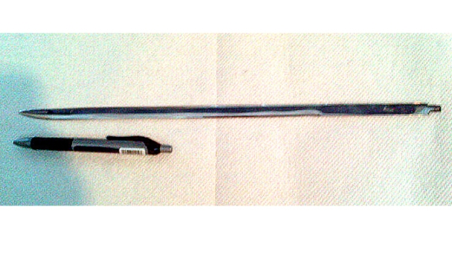 TSA Finds Sword Concealed in Cane at Dulles