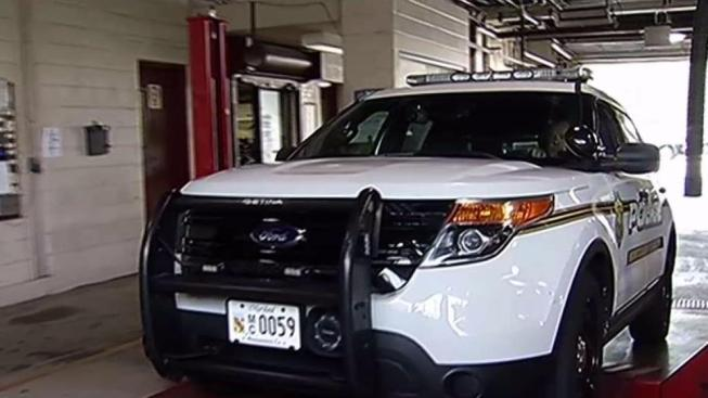 montgomery county police inspecting fleet of ford explorers for
