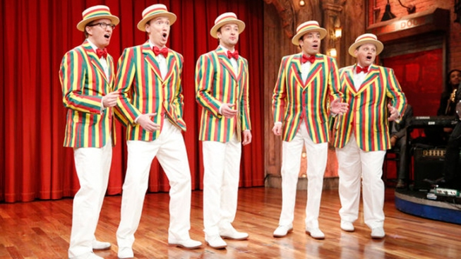 "WATCH: Justin Timberlake Brings ""Sexy Back"" With Barbershop Quartet"