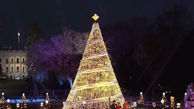 president trump lights national christmas tree - Christmas In Washington