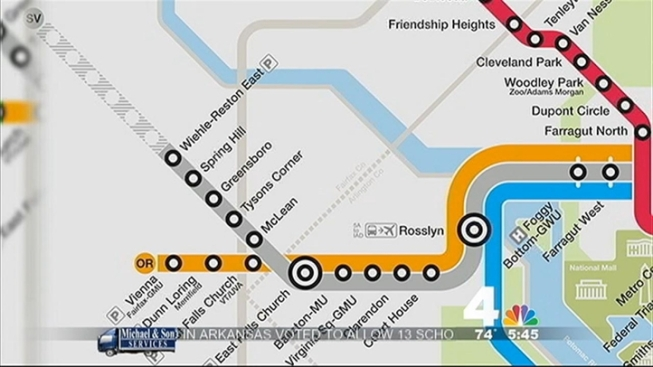 Metro Releases New Map Featuring Silver Line Nbc4 Washington