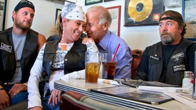 Joe Biden Buddies Up With Ohio Bikers