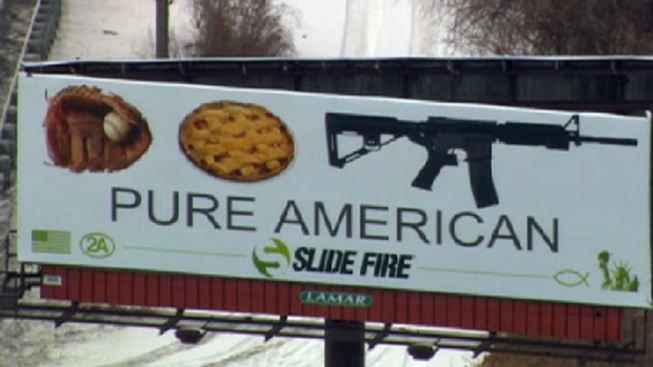 """Pure American"" Ad Lumps Assault Rifle With Apple Pie, Baseball Glove"