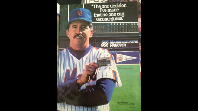 Davey Johnson Looking Young in 1986 Credit Card Ad