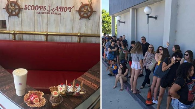 [NATL-LA] Pictures: Ice Cream Shop in Burbank Transforms Into Scoops Ahoy From 'Stranger Things'