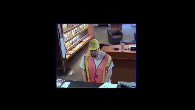 Man in Hard Hat Attempts Bank Robbery