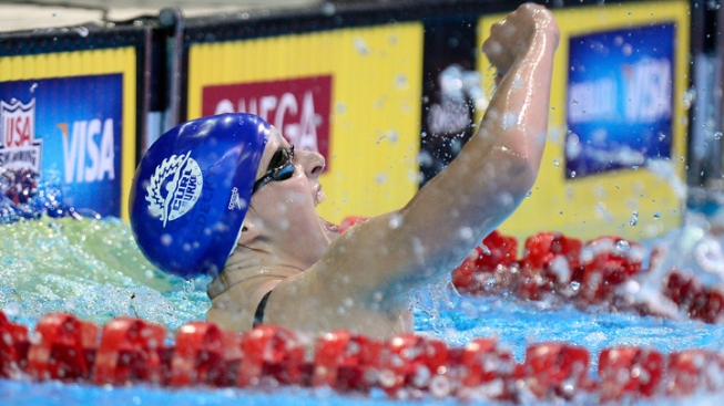 "Sanders on Ledecky: ""Veteran Confidence, Cool to Watch"""