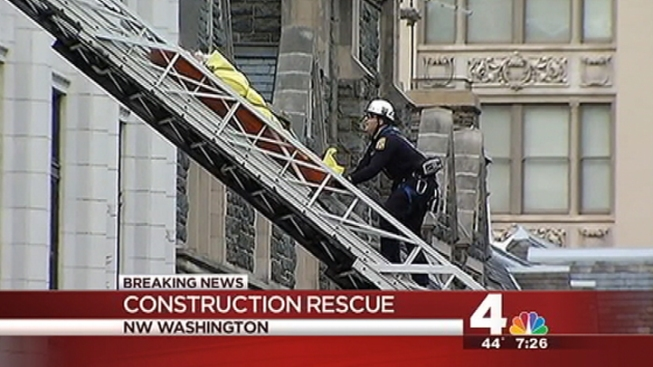 Fourth-Story Rescue for Construction Worker in Downtown D.C.
