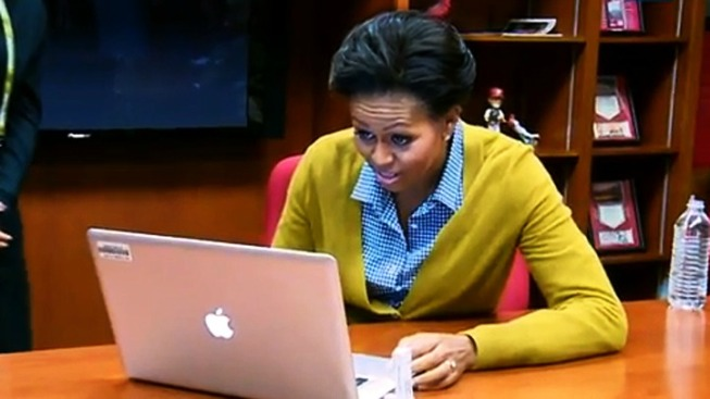 Michelle Obama Sends First Tweet