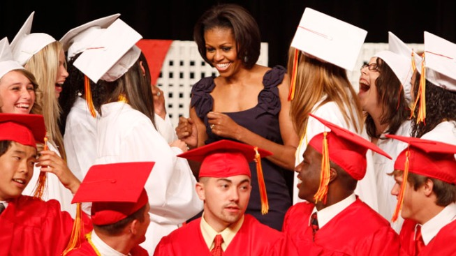 First Lady Delivers Commencement Speech at Quantico H.S.