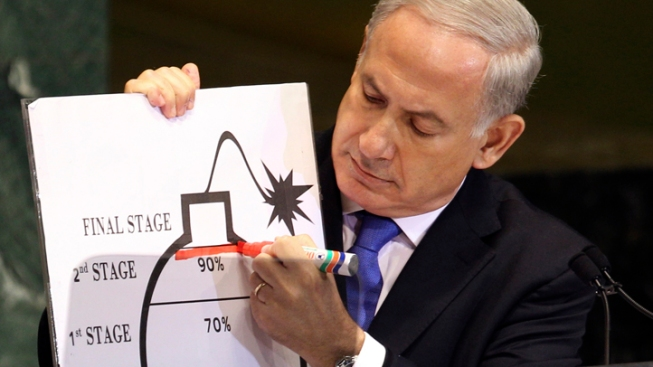 "Israeli PM Draws His ""Red Line"" for Iran"