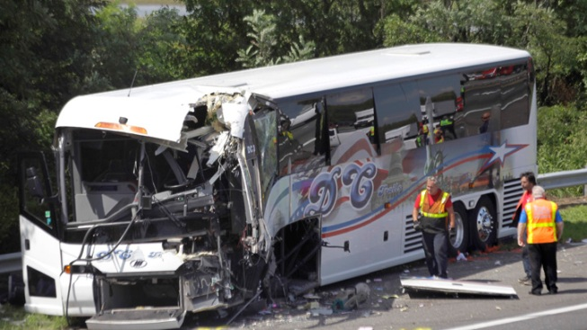 Bus Bound for DC Crashes on NJ Turnpike