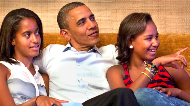 "Barack Obama on Sasha and Malia Dating: Guys Will Need ""Guts to Get Through Secret Service"""