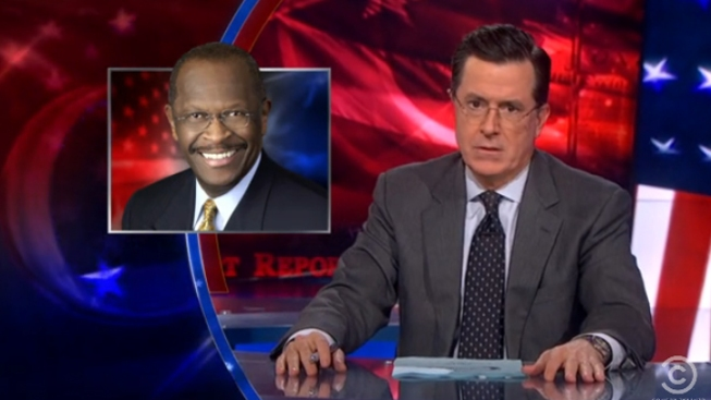 Colbert Perfects the GOP Pin-Up Calendar, Cain Edition
