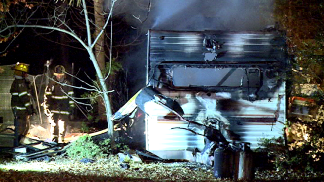 Camping Trailer Catches Fire, One Man Killed